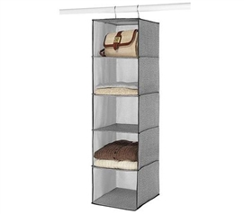 Gray Accessory Shelf Hanger - 5 Shelves