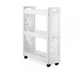 3-Tier Rolling College Laundry Cart