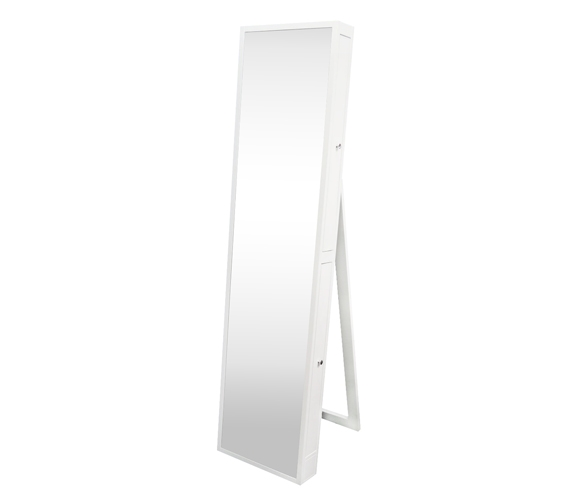 College-Ave Full-Length Mirror with Jewelry Slide Outs - White Extra ...