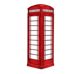 London Phone Booth Message Board Wall Art - Peel N Stick Dorm Room Decorations Dorm Room Decor