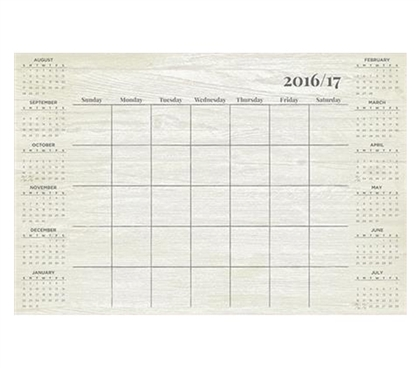 Weathered Academic Calendar Wall Art - Peel N Stick College Supplies Dorm Essentials Must Have Dorm Items