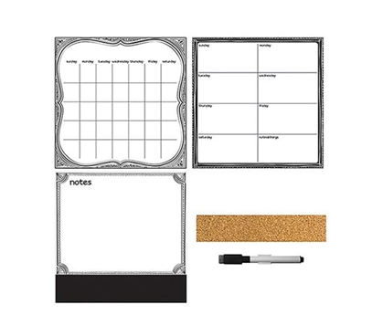 Black and White 3 Piece Combo Wall Art - Peel N Stick Dorm Essentials Dorm Necessities College Supplies Must Have Dorm Items Dorm Room Decor