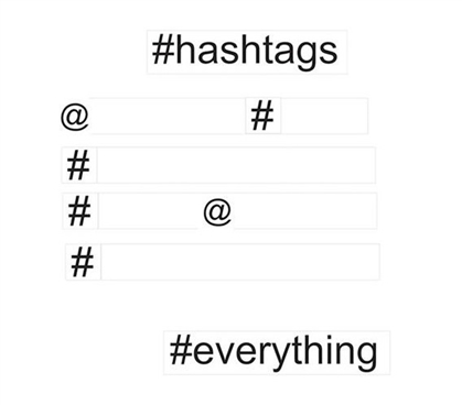 Hashtag Wall Words Wall Art - Peel N Stick Dorm Necessities