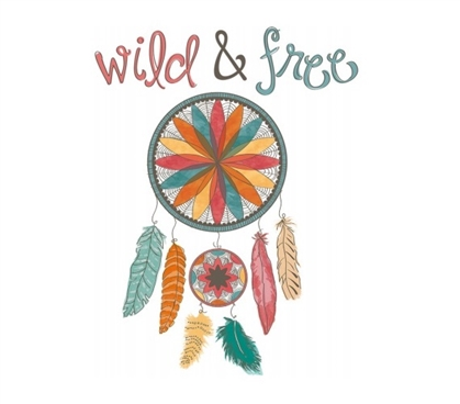 College Essentials - Wild & Free Wall Words Wall Art - Peel N Stick - Decorate Your Dorm