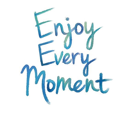 Enjoy Every Moment Wall Quote Wall Art - Peel N Stick College Wall Decor Dorm Room Decorations Dorm Essentials