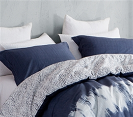 Navy Blur Sham Dorm Essentials Dorm Room Decorations