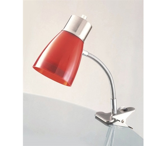 Aglow Dorm Clip Lamp - Red - Aglow Dorm Clip Lamp - Red College Products Desk Lamps For Dorms
