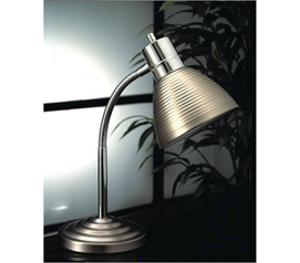 Cheap Dorm Stuff - Steel Shade Desk Lamp - Great Item For College