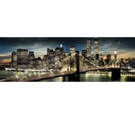 Unique View Of New York - New York Nighttime Moon Poster - NYC Posters For Dorms