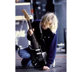 Buy Posters For College - Kurt Cobain On Stage Poster - Dorm Room Decorations