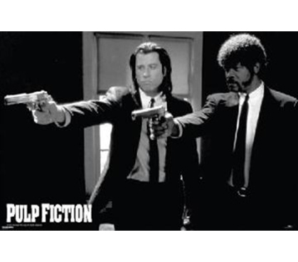 Hit Movie Decor Ideas - Pulp Fiction Guns Poster