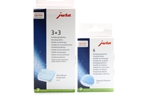 Jura Cleaning & Descaling Tablet Kit | 6 Cleaning Tablets | 9 Descaling Tablets