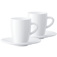 Jura Coffee Cups | 2 Espresso Cups | 2 Saucers
