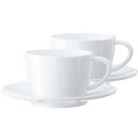 Jura Cappuccino Cups | 2 Coffee Cups | 2 Saucers