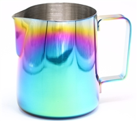 Rainbow Stainless Steel Milk Frothing Pitcher | 12oz | Manual Frothing