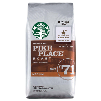 Starbucks Pike Place Coffee Beans | 12oz