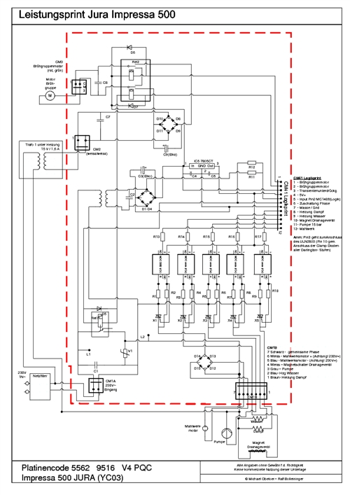 Jura Capresso Impressa Wiring Diagrams Heating Circuit