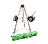 SafeWaze 019-11004  7' Adjustable Tripod Kit with 65' 3-Way, 65' Personnel Winch, and Storage Bag