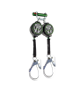 SafeWaze 019-5139 7′ Dual Leg Web Retractable with Form Accommodating Hooks & 9013 BWB