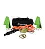 SafeWaze 019-8006  2 Person 80' Rope Horizontal Lifeline Kit with Heavy Duty Cross Arm Straps
