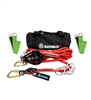 SafeWaze 019-8015  4 Person 100' Rope Horizontal Lifeline Kit with Cross Arm Straps