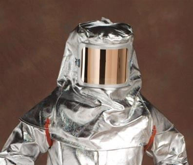 Chicago Protective Apparel 0647-ARH 19 oz. Aluminized Rayon Heavy Hood