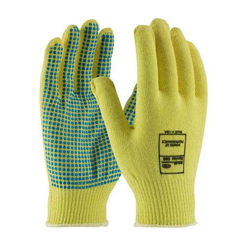 PIP 08-K200PD Kut-Gard Seamless Knit Kevlar® Glove with PVC Dot Grip - Light Weight - Box/12 Pairs