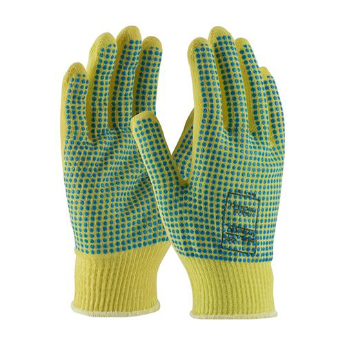 PIP 08-K200PDD Kut-Gard Seamless Knit Kevlar® Glove with Double-Sided PVC Dot Grip - Light Weight - Box/12 Pairs