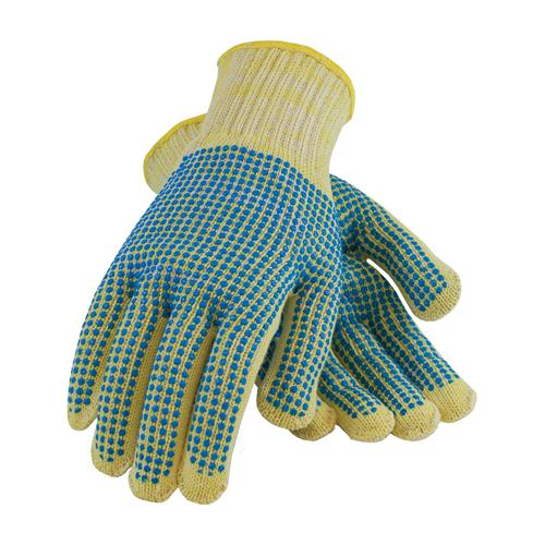 PIP 08-K252 Kut-Gard Seamless Knit Kevlar® / Cotton Plated Glove with Double-Sided PVC Dot Grip - Medium Weight - Box/12 Pairs