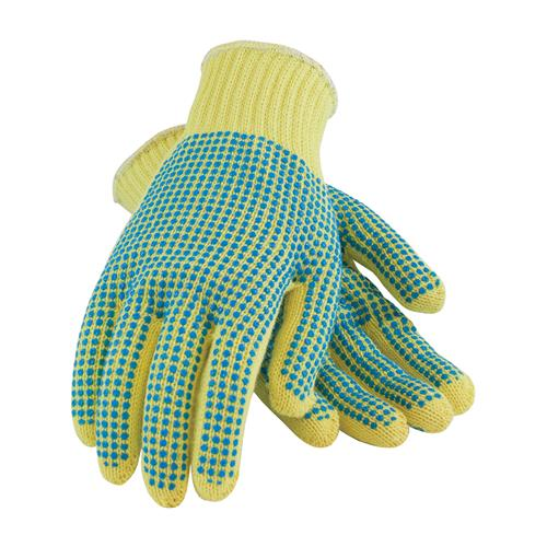 PIP 08-K300PDD Kut-Gard Seamless Knit Kevlar® Glove with Double-Sided PVC Dot Grip - Medium Weight - Box/12 Pairs