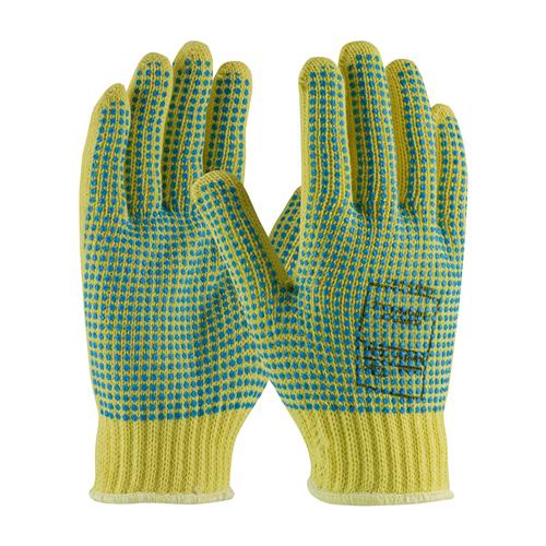 PIP 08-K350PDD Kut-Gard Seamless Knit Kevlar Glove with Double-Sided PVC Dot Grip - Heavy Weight - Box/12 Pairs