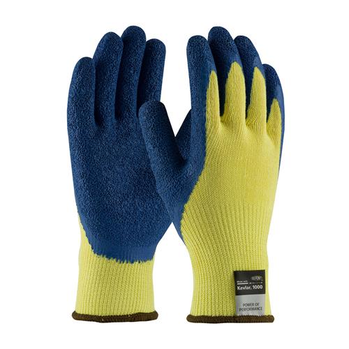 "PIP 09-K1310 Kevlar Gloves With Blue Latex ""Crinkle"" Grip - Box/12 Pairs"