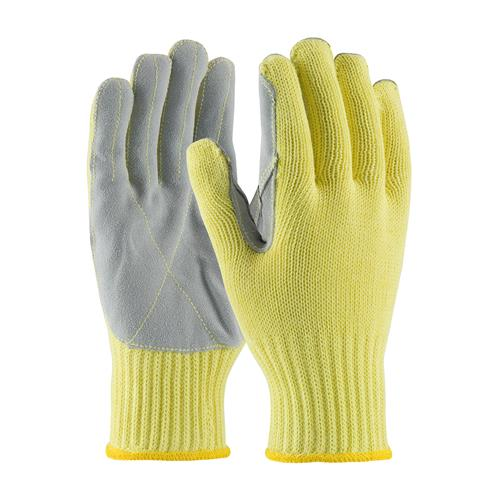 PIP 09-K300LP Kevlar Gloves With Cowhide Leather Palm, Medium Weight - Box/12 Pairs