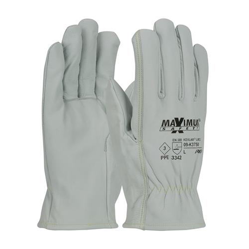 PIP 09-K3750 Maximum Safety AR/FR Top Grain Goatskin Leather Glove with Kevlar Liner - Straight Thumb - Box/12 Pairs