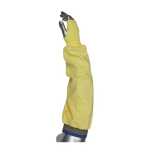 "PIP 10-K4722 Kut-Gard Interlock Kevlar/Cotton Sleeves with Thumb Hole, Single Ply, 22"" Length - Box/ 12 Sleeves"