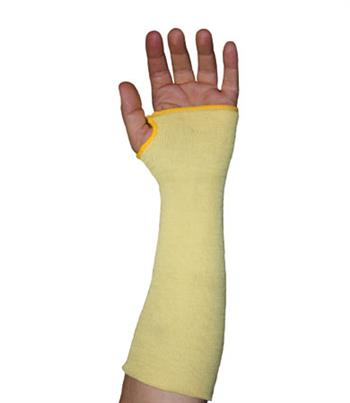 "PIP 10-KS14TO Kut-Gard Kevlar Sleeves, Two Ply, 14"" Length, Thumb Hole - Box/6 Pairs"