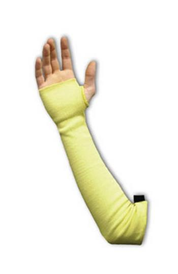 "PIP 10-KS18THV Kut-Gard Kevlar Sleeves, Two Ply, 18"" Length, Thumb Hole, Adjustable - Box/6 Pairs"