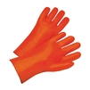 "West Chester 1027OR Orange PVC Coated Gloves, 12"" Length, Smooth Finish, Foam Lined, Large, Box / 12 Pairs"