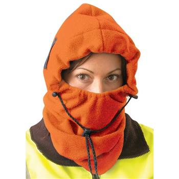 OccuNomix 1070-HVO 3-in-1 Fleece Balaclava, Hi Vis Orange