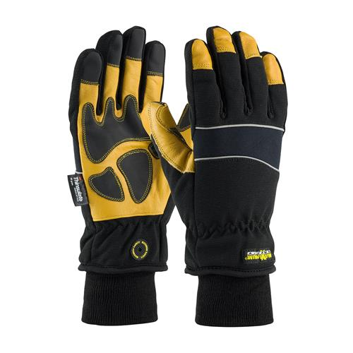 PIP 120-4800 Maximum Safety Thinsulate Lined Winter Glove, Waterproof Barrier, Goatskin Leather Palm, 1 Pair