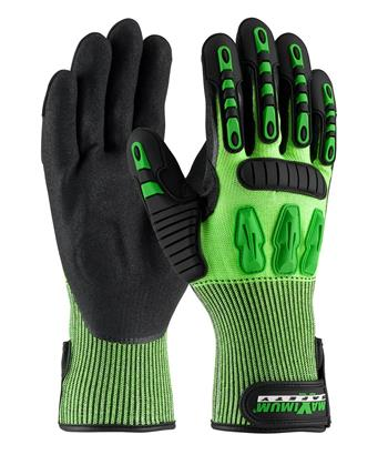 PIP 120-5130 Maximum Safety TuffMax3 Gloves, TPR Protection, ANSI Cut Level A2, EN 388 Cut, Puncture & Tear Resistant, Pair