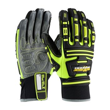 PIP 120-5275 Maximum Safety Roustabout KVW Oil & Gas Gloves, Heat & Cut Resistant Kevlar Lined, Impact Protection, Synthetic Leather Palm, Pair