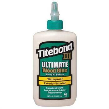 Titebond 1413 Ultimate Wood Glue - Titebond III, 8 oz, Case/ 12