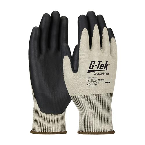 PIP 15-440 G-Tek Suprene ANSI Cut Level 4 Seamless Knit Suprene Glove with NeoFoam Grip Palms & Fingers Box/12 Pairs