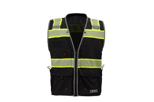 GSS Safety 1513 ONYX Surveyor's Safety Vest - Black