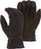 Majestic 1546T Black Deerskin Winter Drivers Gloves, 40 Gram Thinsulate Insulated, Reversed Back, Grain Palm, Keystone Thumb & Adjustable Leather Strap Box/12 Pair