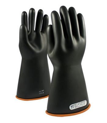 "Pip Novax Rubber Insulating Gloves Electrical Rated Gloves, Bi-Color, 16"", Unlined, Smooth Finish, Beaded"