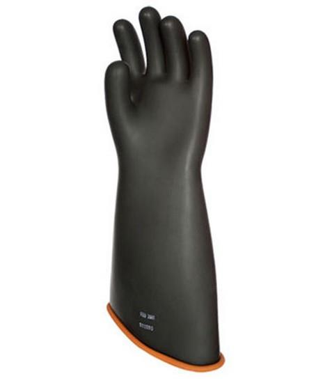 "Pip Novax Rubber Insulating Gloves Electrical Rated Gloves, Class 3, Black Over Orange, 18"", Unlined, Model#/Size: 158-3-18/9"
