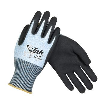 PIP 16-330 G-Tek PolyKor Seamless Knit PolyKor Blended Glove with Nitrile Coated, ANSI Cut Level 2 - Box/12 Pairs