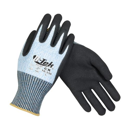 PIP 16-330 G-Tek PolyKor Seamless Knit PolyKor Blended Glove with Nitrile Coated - Box/12 Pairs